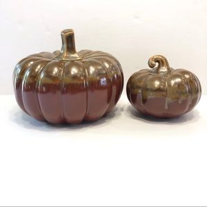 Other - Ceramic Pumpkins, Set of Two